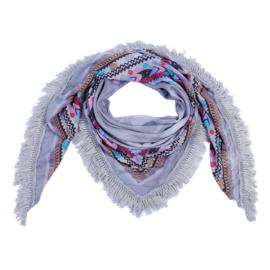 Sjaal Aztec vibes - grijs