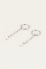 My Jewellery Lange oorhangers met parel