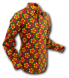 Chenaski overhemd Flowergrid brown