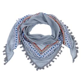 Sjaal Aztec lines - grijs