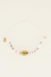 My Jewellery Armbandje met schelp en kraaltjes