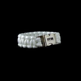 STOER Paracord armband Wit