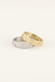 My Jewellery Brede ring bloemetjes
