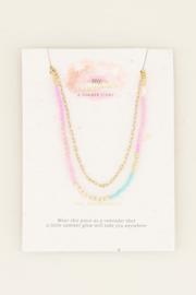 My Jewellery Dubbele ketting kralen en schakels