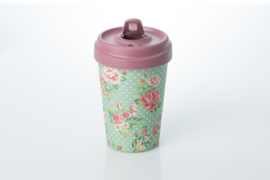 Bamboo cup Vintage roses