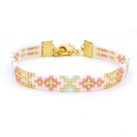 Beads armbandje summer ornaments - Beach pastels