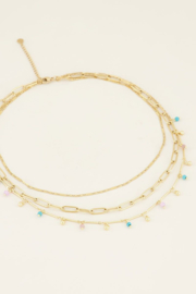 My Jewellery Driedubbele ketting kralen en schakels