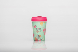 Bamboo cup Flower pattern
