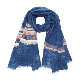 Sjaal blue boho