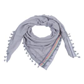 Sjaal Neon aztec - grijs