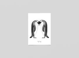 Postkaart Keizer pinguïns - Ferdy Remijn