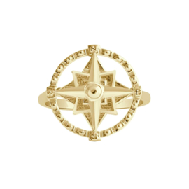 Happy hippies Ring Compass goud