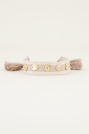 My Jewellery Bohemian armband met bedeltjes beige