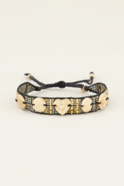 My Jewellery zwarte armband bedels & kraaltjes
