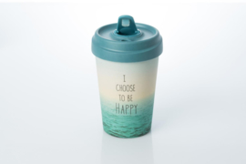 Bamboo cup Choose to be happy