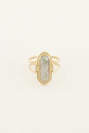 My Jewellery Ring met grijze steen