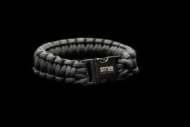 STOER Paracord armband black zwart cobra