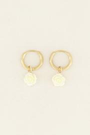 My Jewellery Witte oorbellen roosjes