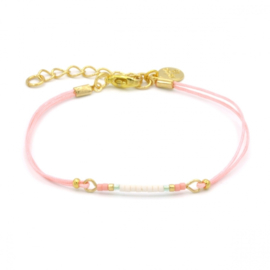 Mint 15 - Mini bracelet pink - Beach pastels
