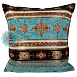 Kussen Peru turquoise 45x45