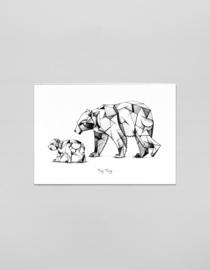 A3 Art print Kubisme ijsberen - Ferdy Remijn