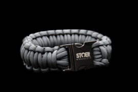 STOER Paracord armband Black Antraciet XL