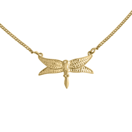 Happy Hippies  ketting Dragonfly goud