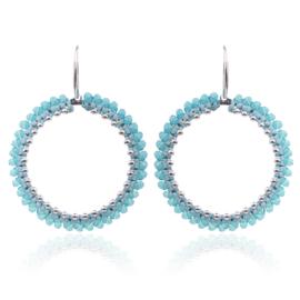 Oorbellen round beads