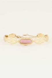 My Jewellery Bangle met roze steen