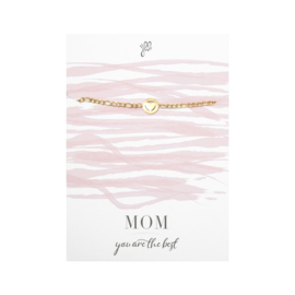 Armband Mama is the best - goudkleurig