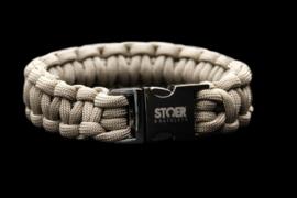 STOER Paracord armband black taupe cobra