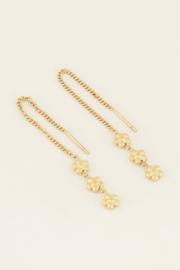 My Jewellery Oorhangers drie bloemetjes
