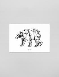 A3 Art print Kubism ijsbeer - Ferdy Remijn