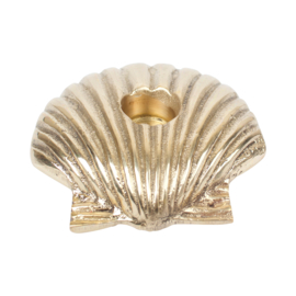 Shell candle holder- goudkleurig