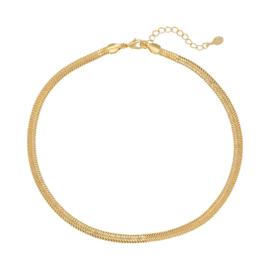 Ketting Snaky chain - goudkleurig