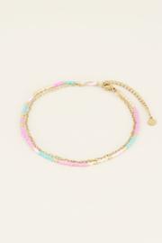 My Jewellery Dubbel enkelbandje kralen