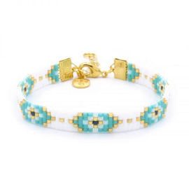 Mint 15 - Beaded Bracelet Lucky Eyes
