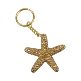 Keychain Starfish - goudkleurig