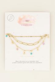 My Jewellery Driedubbel enkelbandje kralen