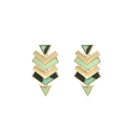 Oorbellen triangle arrow groen