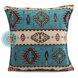 Kussen Navajo turquoise 45x45