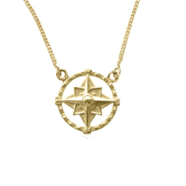 Happy Hippies  ketting Compass goud