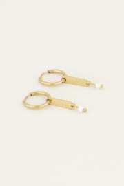 My Jewellery Parel oorbellen met love