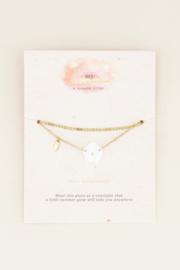 My Jewellery Dubbel armbandje bloemetje