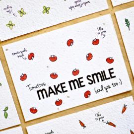 Zaaibare kaart - Make me smile
