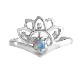 Happy hippies Ring Sunshine opaal sterling zilver