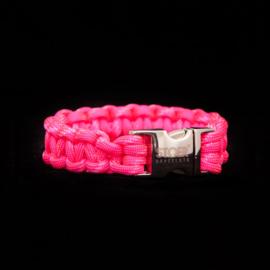 STOER Paracord armband Neon Roze