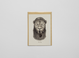A5 prentbriefkaart I like your beard - Ferdy Remijn