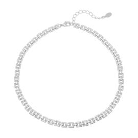 Ketting Square chain - zilverkleurig