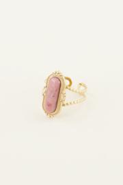My Jewellery Ring met roze steen